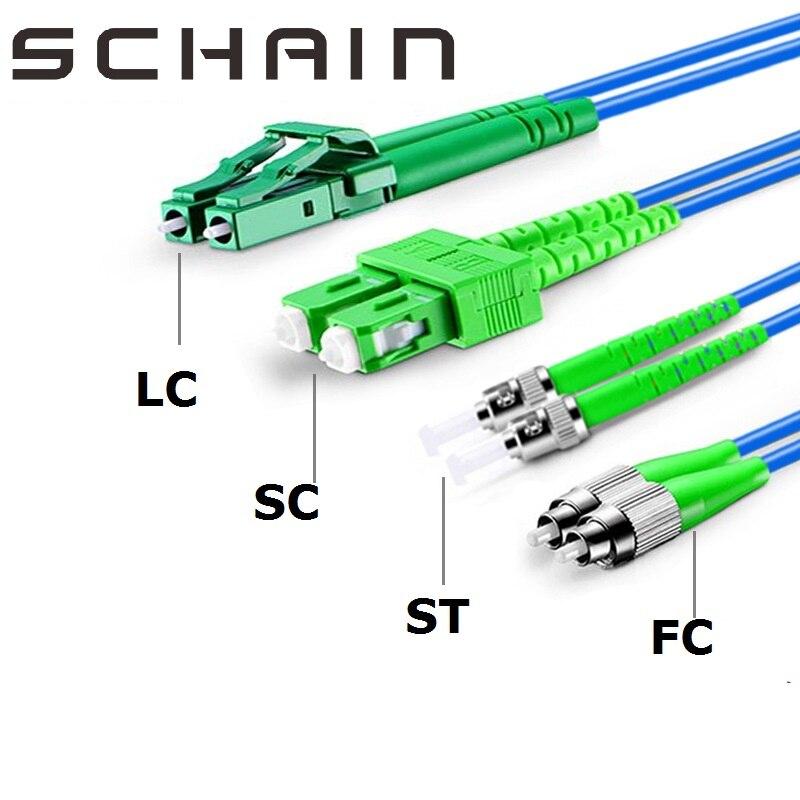 1m SC LC FC ST APC Patchcord blindado dúplex Ftth Cable único...