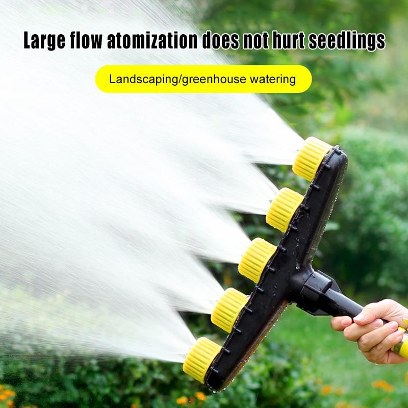 Boquilla de riego, accesorios de irrigación, cabezales múltiples para jardín, boquilla para riego de verduras