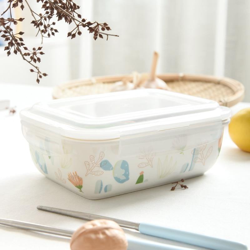 لطيف بينتو علب الاغذية وجبة خفيفة سلطة طعام أطفال حاويات اليابانية علب الاغذية الترمس Kawaii Caja دي Almuerzo أدوات المائدة DE50FH