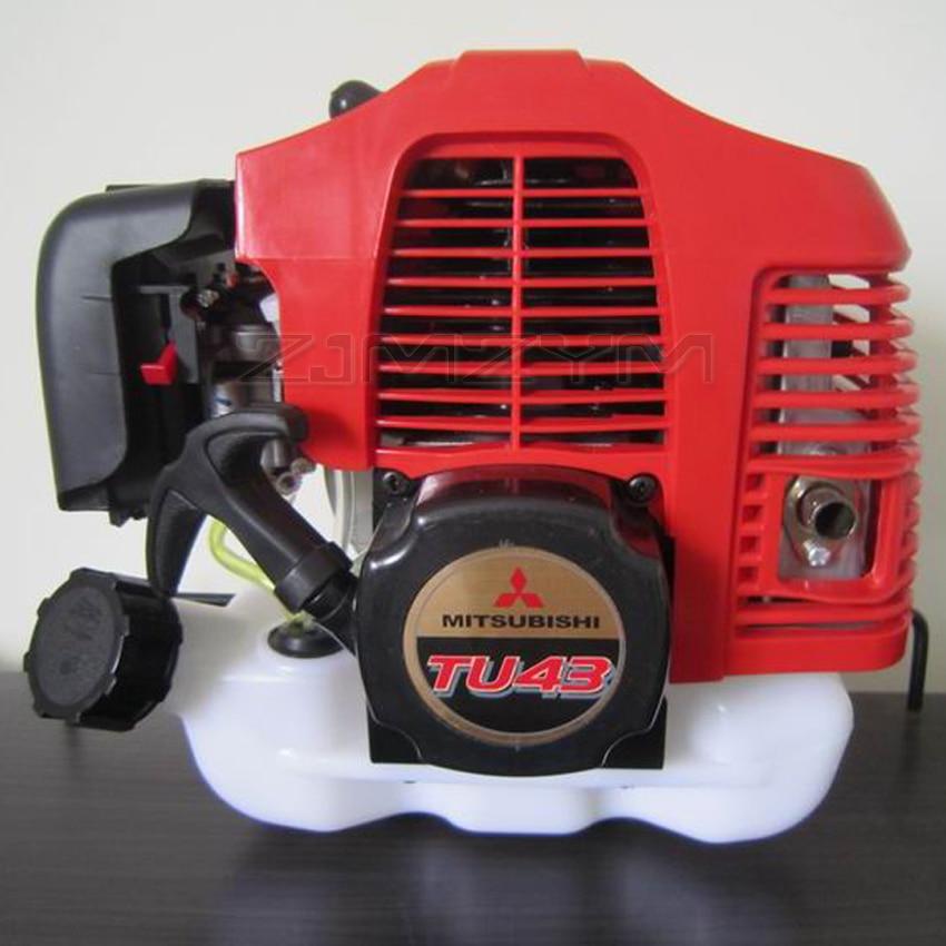 TU43 2 محرك بنزيني رباعي الأشواط 43CC 1.7hp آلة تقطيع الفراشي المحرك أداة تشذيب الحافة المحرك 0.8L 7500 rpm