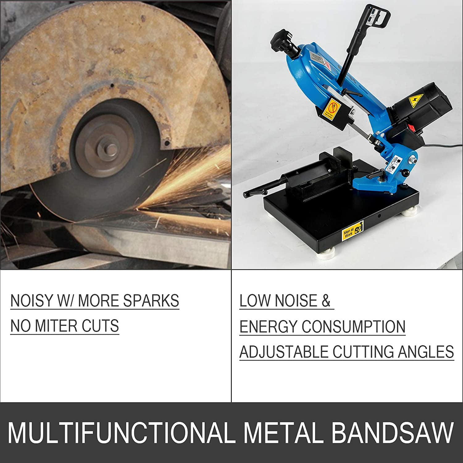 BS-85 Benchtop Metal Bandsaw 1000W  Band Saw For Cutting Wood Metal Glass Fiber Plastic enlarge