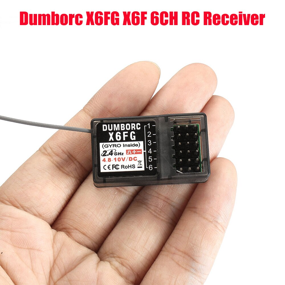 Dumborc X6FG X6F 6CH Remote Controller Receiver for RC Car Boat Truck fit for X4 X5 X6 X6P Transmitter