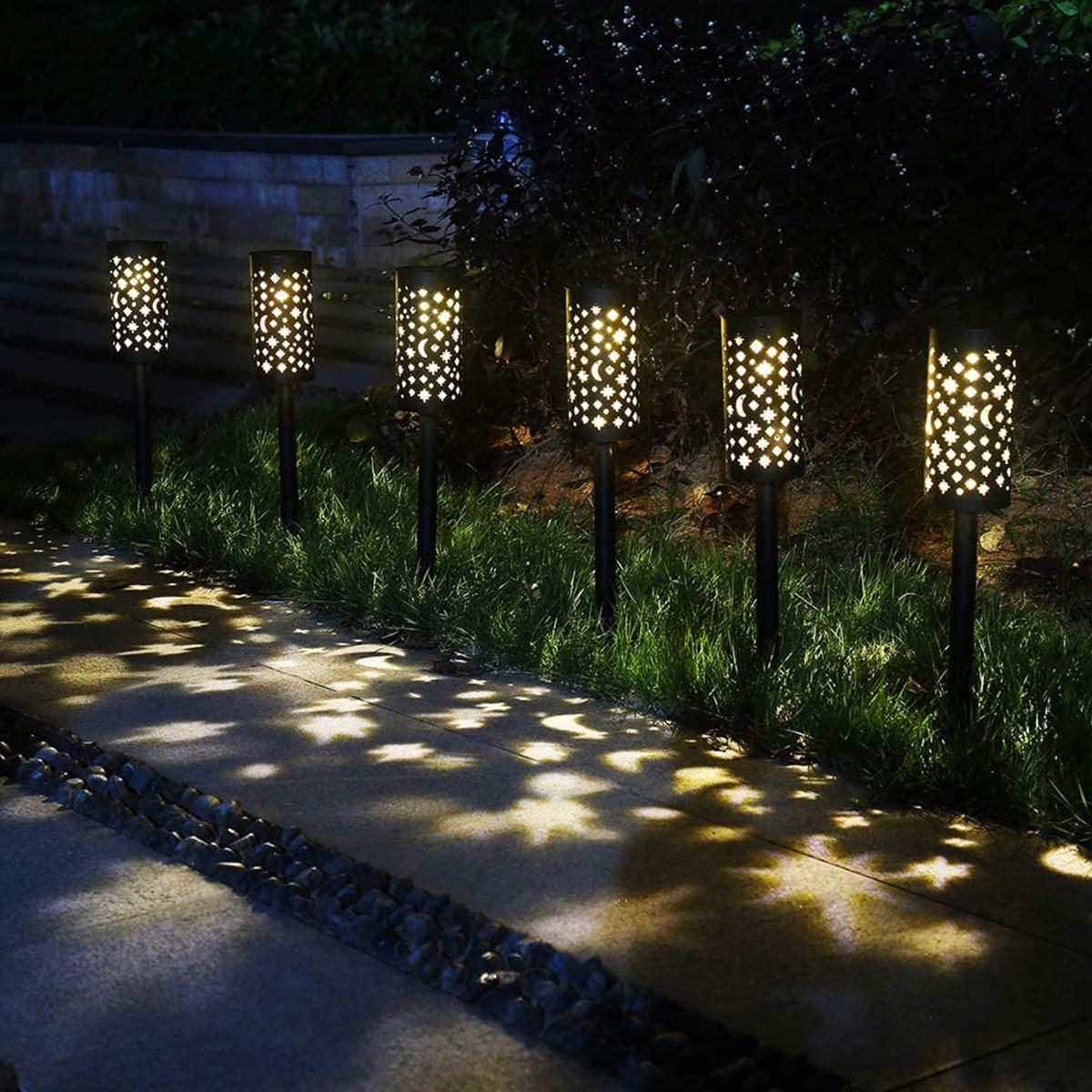 Hollow-out Solar Lamp Convenient Practical Durable Landscape Light Ground Plug Lamp Solar Lamp for Outdoor Outside Garden