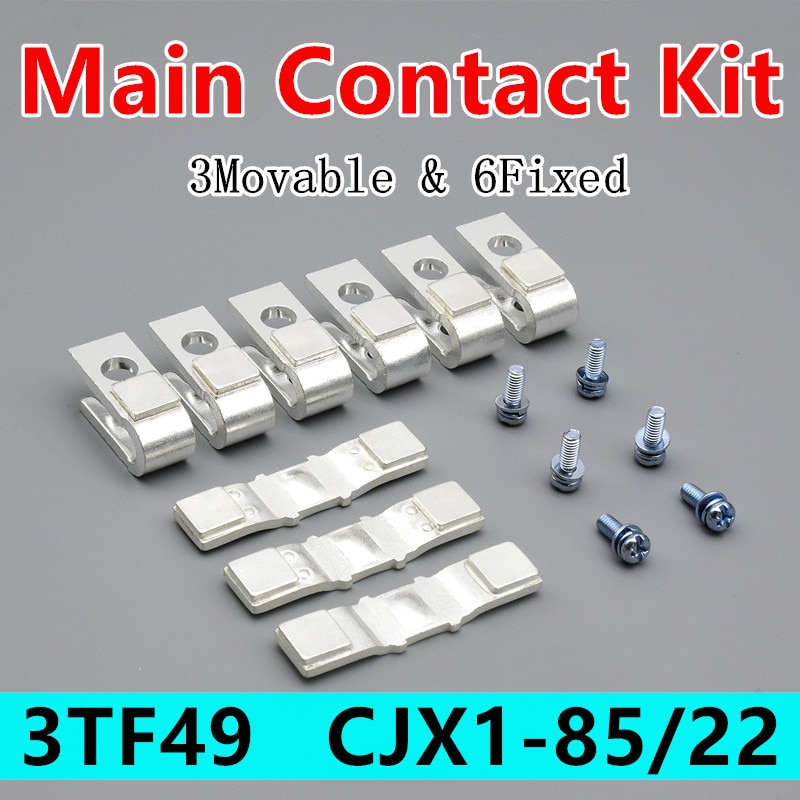 3TY7490-0A الرئيسي الاتصال عدة ل 3TF49 قواطع قطع الغيار استبدال اكسسوارات CJX1-85/22 تتحرك والثابتة الاتصالات