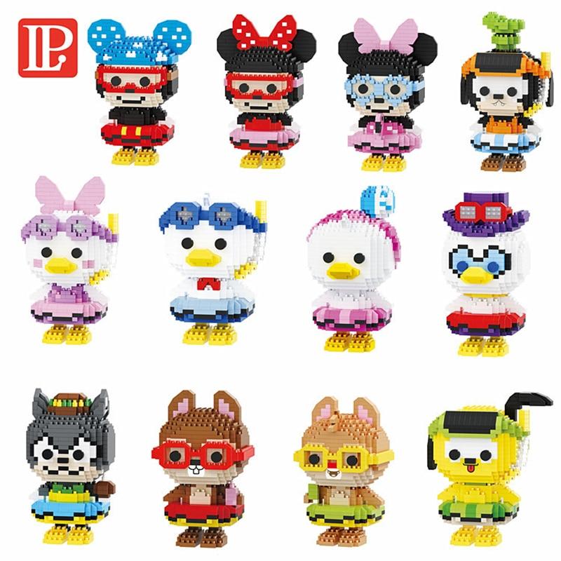 Disney Serie Diamant Blöcke Micro Mickey Maus Chip Dale Donald Duck Goofy Mini Bausteine Figuren Spielzeug Für Kinder
