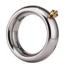 Anneau de bite de choc électrique masculin, anneaux de pénis en métal accessoire délectrostimulation de civière de Scrotum pour les jouets sexuels de choc électrique de bricolage