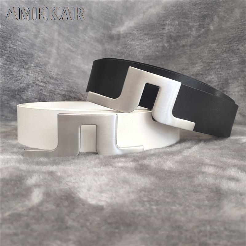 2021 new fashion golf Belt jl leather simple men golf belt