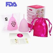 Productos de higiene femenina Copa Menstrual para mujer Copa Menstrual de silicona para la menstruación Copa Menstrual reutilizable