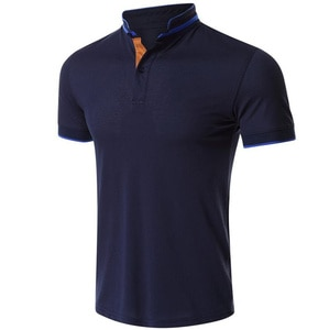 Summer Men's shirt Business casual Polo shirt Breathable Branded men's clothing Stand-up collar Solid color T-shirt  top