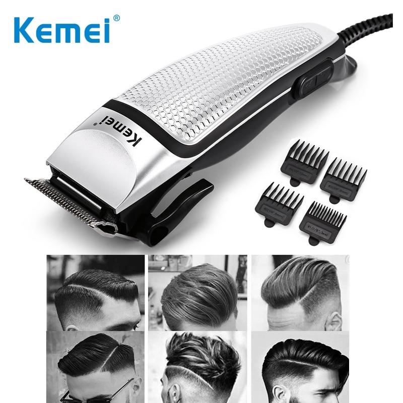 Kemei, maquinilla eléctrica para cortar el pelo para hombres, cuchilla de acero con cable, corte de pelo, cortador de cabello profesional para adultos, máquina KM-4639