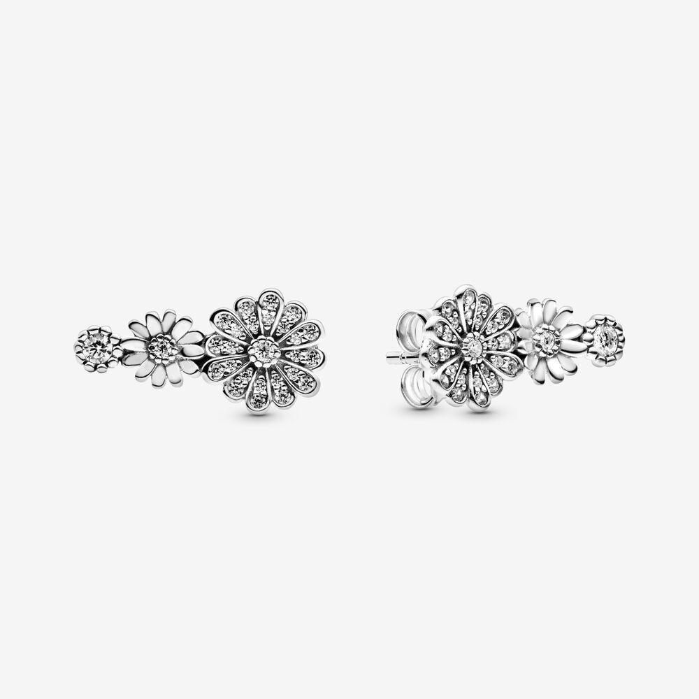 2020 novo autêntico 925 prata esterlina rosa de ouro leoa e coração brinco studs para as mulheres simples brinco jóias presente