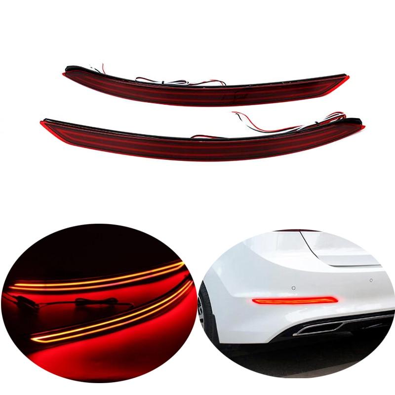 Для Hyundai Elantra 2017 2018 Автомобильный задний бампер отражатель красный стоп-сигнал LED Waring Light