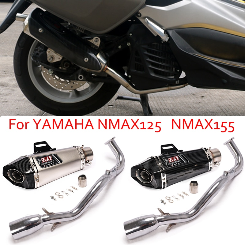 Motorcycle Yoshimura Exhaust Full System Front Middle Link Pipe  51mm Escape MOTO Muffler For Yamaha NMAX155 NMAX125 2020 2021