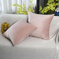 Мягкая бархатная наволочка Чехлы для домашнего декора для дивана сиденье стул машина наволочка розовые бежевые наволочки