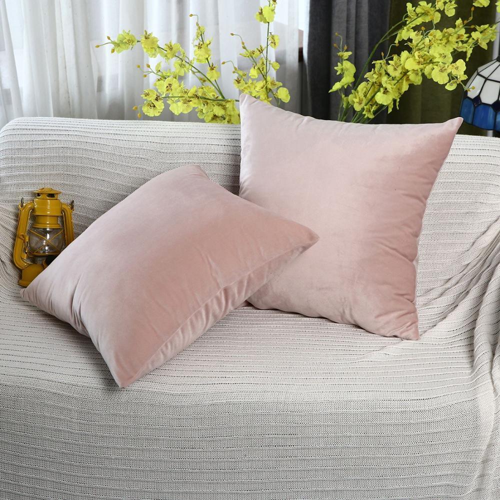 14 Colour Luxury Velvet Cushion Cover Pillow Cover Pillow Case Green Yellow Pink Gray Home Decorative Sofa Throw Pillows 45X45CM