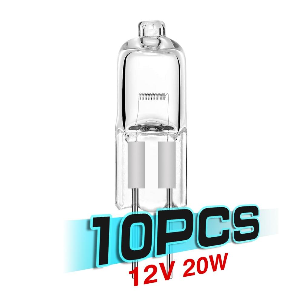 Самый дешевый! 10 шт./лот, лидер продаж, супер яркая лампа G4 12 В 20 Вт, вольфрамовая галогенная лампа, лампочка для домашнего декора, внутреннее ...