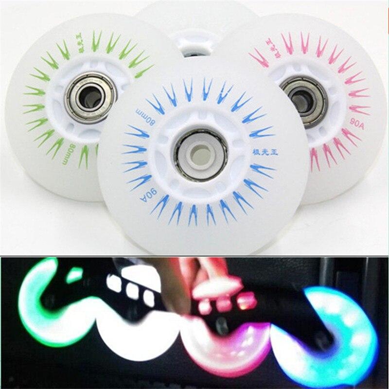 Ruedas LED de patinaje brillante, ruedas LED de 90 a, ruedas deslizantes para SEBA Powerslide RB, ruedas de ruedas, ruedas de 72 76 80mm, Patines brillantes