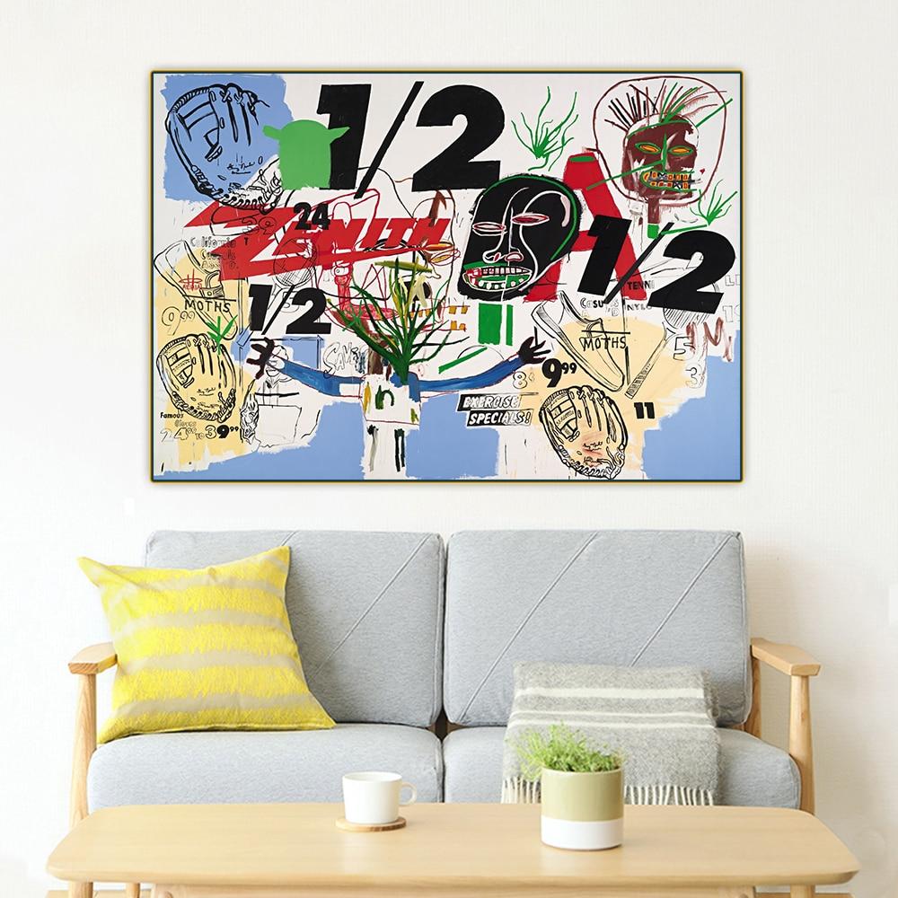 Holover Jean-lienzo de pintura al óleo de Michel Basquiat