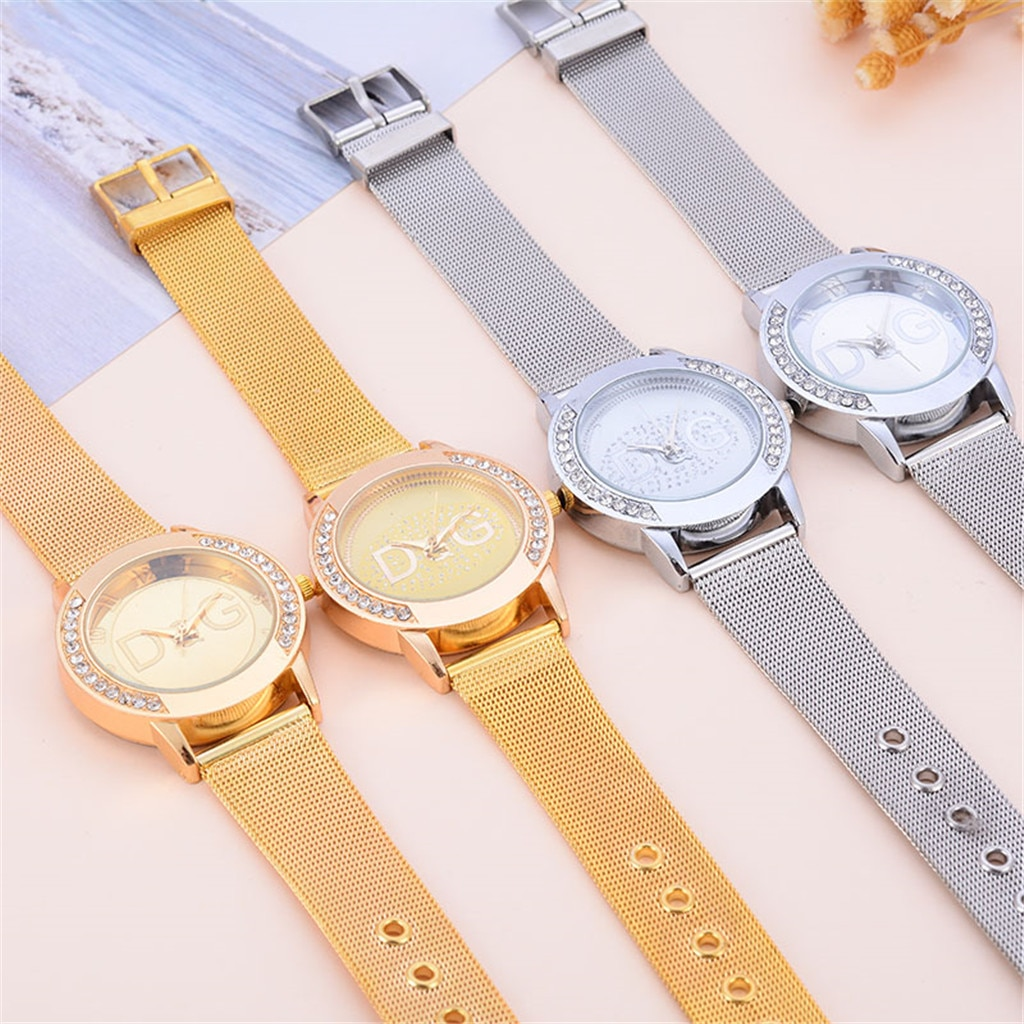 2020 new European fashion popular style women luxury watch brand Quartz watches Reloj Mujer casual stainless steel watches enlarge