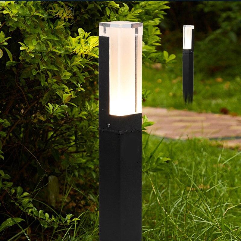 10W LED jardín césped lámpara Simple moderno aluminio exterior impermeable pasillo patio Villa paisaje Pilar césped lámpara AC85-265V