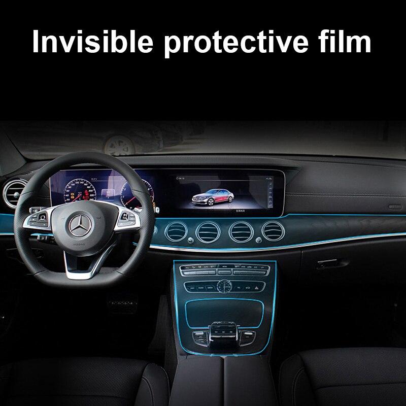 Película protectora de ratón de escritura a mano central 1 Juego para Mercedes Benz W205 W213 GLC C Clase E 2015-2018 pegatina para carrocería de coche