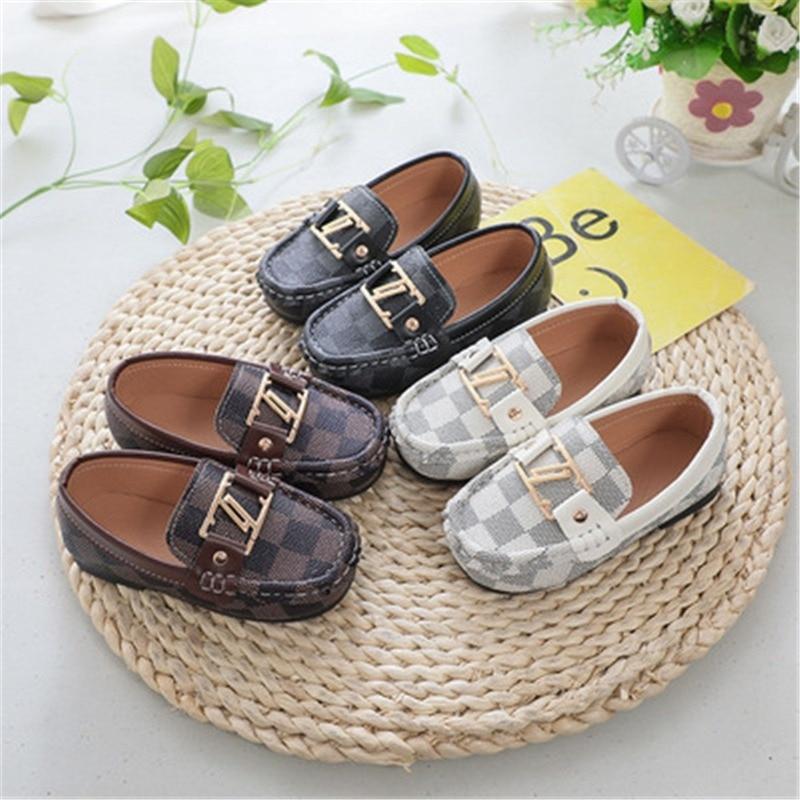 Детская обувь, детская кожаная обувь для мальчиков и девочек, детская обувь с мягкой подошвой, Повседневная Уличная обувь, детские кроссовк...