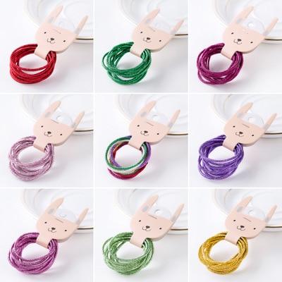 1PCS/10 3-5CM Rainbow Colorful Hair Band Gum Hair Ties For Girls Rubber Bands Hair Elastics Kids Accessories Headdress 2020