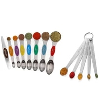 13 piece stainless steel measuring spoons set dual sided stackable teaspoon for measuring dry and liquid ingredients