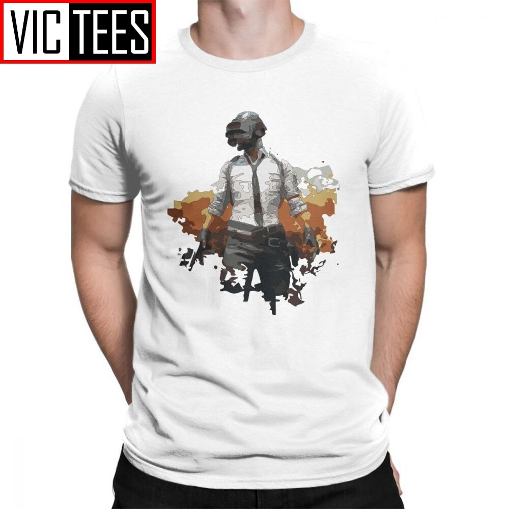 Pubg T-Shirt Player Unknowns Battle Ground Mans Novelty Tees Funky Creative 100% Cotton Men T Shirts FPS Game