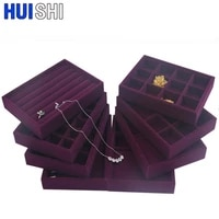 new purple flannel diy jewelry organizer drawer jewellery box earring display ring holder necklaces pendant bracelet watch tray