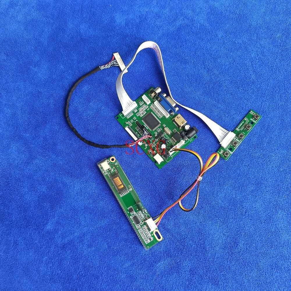 1280*800 1-CCFL لتقوم بها بنفسك عدة وحدة تحكم بشاشة إل سي دي محرك مجلس HDMI متوافق AV VGA ل HT141WX1/HT141WXB/M141NWW1 LVDS 30 Pin العرض