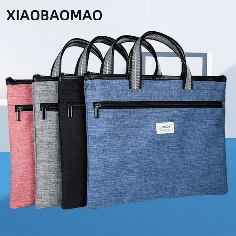A4 Document Organizer Folder Solid Color Business Holder Case for Ipad Bag Office Filing Briefcase Storage Stationery