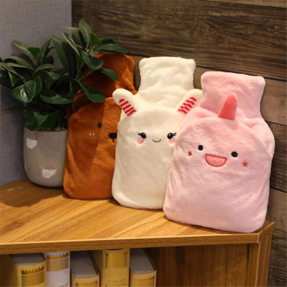 Winter Warm Water Injection Hot Water Bottles For Hands Feet Belly Women Water-Filled Type Hot Water Bag Removable Hand Warmer enlarge