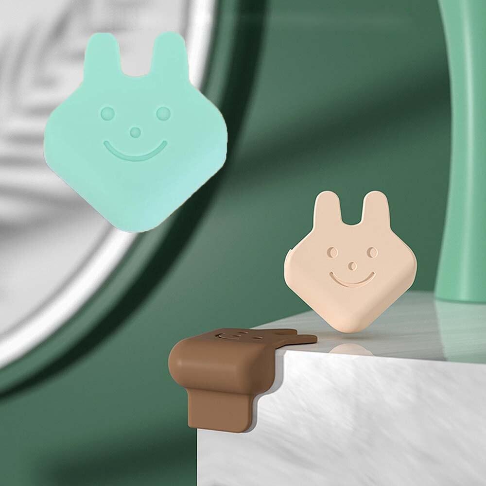 Защита углов в форме головы кролика для детей, безопасная, Экологически чистая Силиконовая защита для краев стола, защита углов
