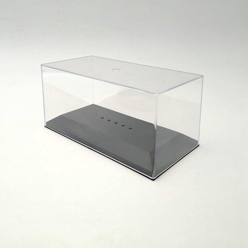 Caja de exhibición de la carcasa de acrílico del coche modelo 1/43 transparente a prueba de polvo IXO plástico transparente