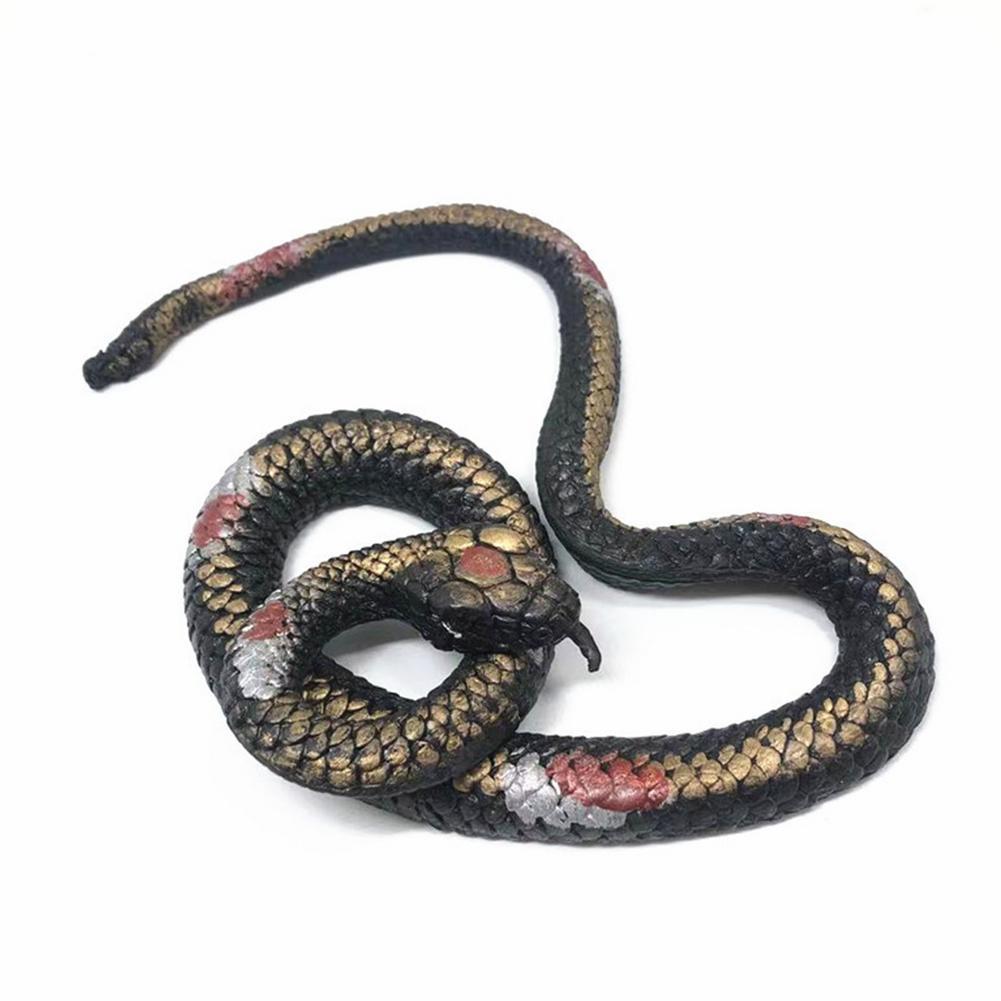 Игрушка-змея на Хэллоуин, имитация резиновой змеи, модель игрушечной искусственной змеи, искусственная резиновая змея для вечеринки, искус...