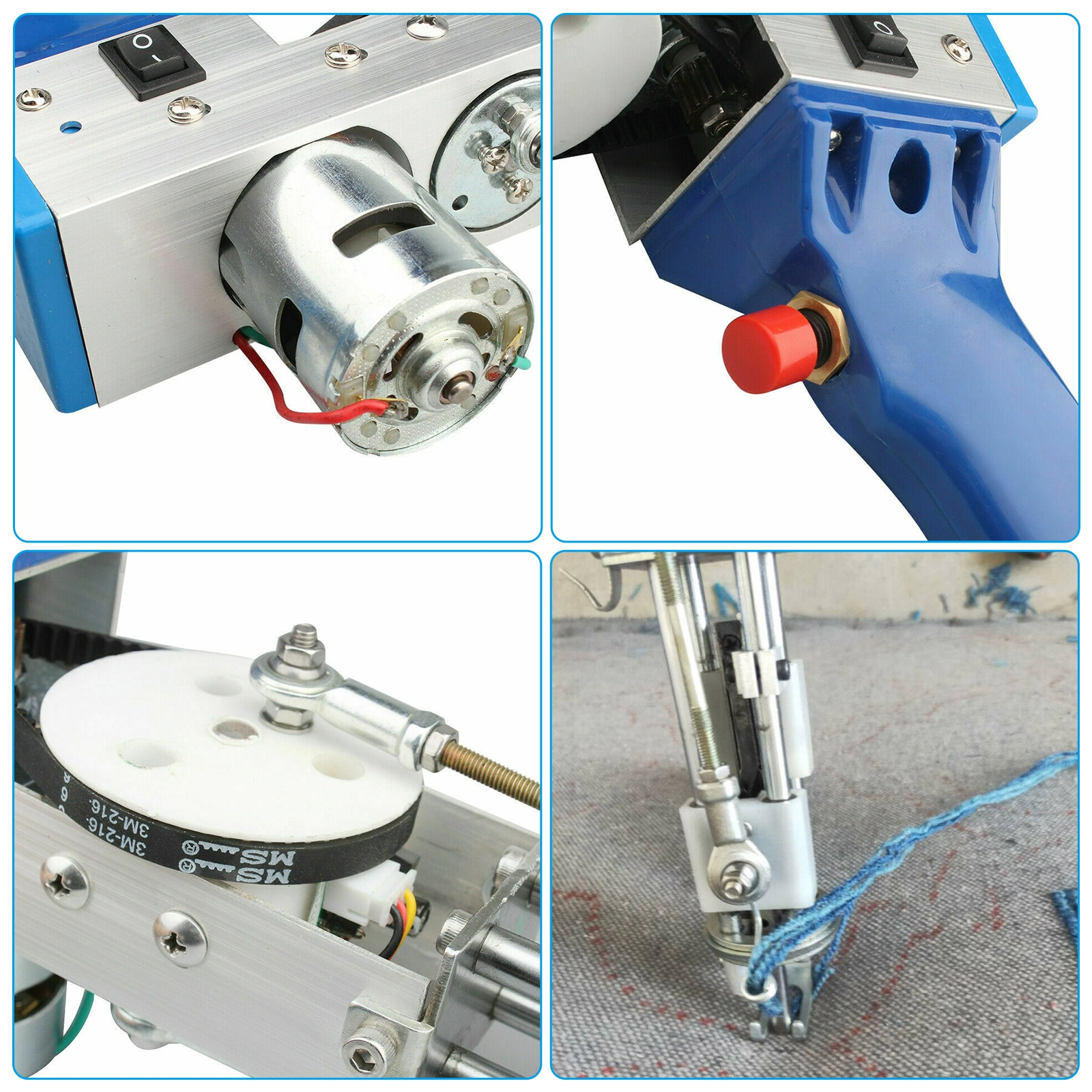 Electric Carpet Tufting Gun Cut Pile 100V-240V Loop Pile Hand Gun Carpet Weaving Flocking Machines 7-21mm Knitting Machine enlarge