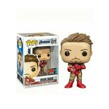 FUNKO POP Iron Man Mark I Marvel estudios verano exclusivo Tony Stark 529 # figuras de acción juguetes modelo