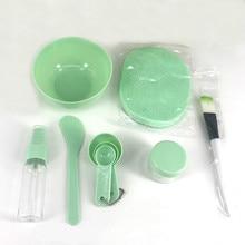 9Pcs/Set DIY Face Mask Mixing Bowl Set Mask Brush Mixing Stick Spoon Facial Skin Care Mask Tools Kit