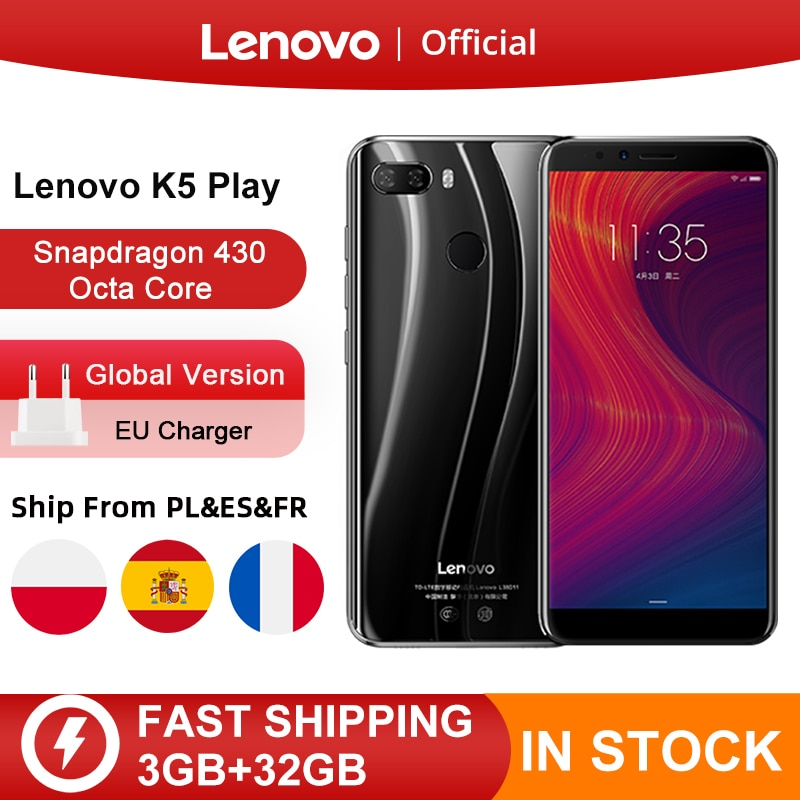 "Globale Version Lenovo K5 Spielen 3GB 32GB Snapdragon 430 Octa Core Smartphone 1,4G 5.7 ""18:9 Fingerprint android 8 13,0 MP Kamera"