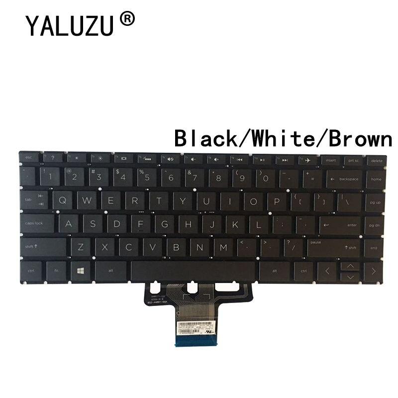 YALUZU-لوحة مفاتيح الكمبيوتر المحمول ، لوحة مفاتيح أمريكية جديدة لأجهزة الكمبيوتر المحمول HP Pavilion 14 X360 14-CD 14T-CD 14M-CD 14-CD0000 الإنجليزية بدون إضاءة خل...