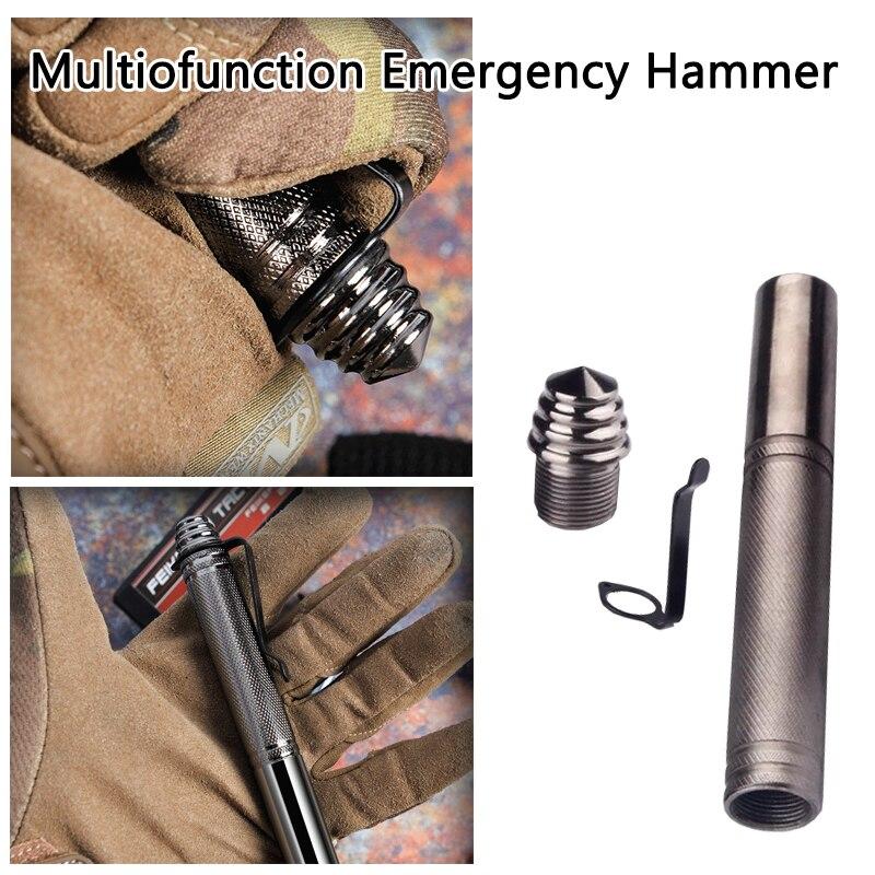 1 Uds. (tipo D) martillo de seguridad Personal para exteriores, pluma Anti-Lobo, protección para mujeres, defensa táctica, para acampar, ventana rota de 14cm-32cm