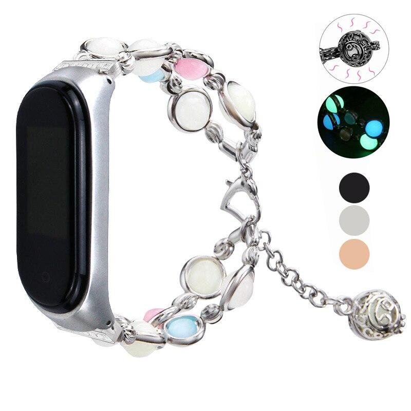 Essidi Für Xiao mi mi Band 3 4 Lu mi nous Perlen Smart Armband Armband Frauen Mode Handgelenk Band Schleife für Xiao mi mi Band 3 4 Uhr