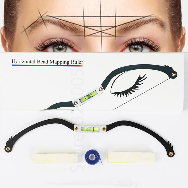 Микроблейдинг линейка для бровей картографический набор Перманентный макияж для бровей линейка со стрелками для бровей микрозатенение