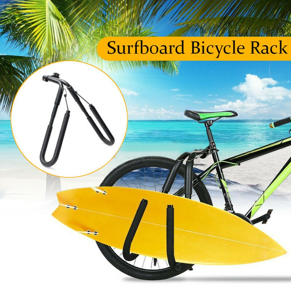 Fahrrad Surfen Träger Surfbrett Wakeboard Bike Rack Montieren Zu Sitz Beiträge Praktische Surfbrett Bike-Seite Halter Reiten