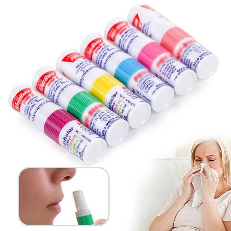1pc Thailand Nasal Inhaler Poy sian Mark 2 Herbal Nasal Inhaler Poy Sian Stick Mint Cylinder Oil Brancing Breezy Asthma