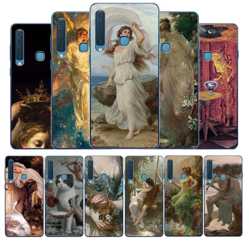 John William Waterhouse cubierta TPU Soft Phone Case For Samsung Galaxy A5 2016 A6 A7 A8 Plus A9 2018 A10 A20 A30 A40 A50 A70