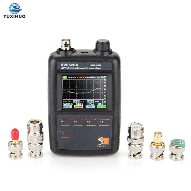 Baofeng KVE-520A لحم الخنزير هوائي محلل KVE520A ناقلات مقاومة محلل 133-177/195-280/395-520Mhz هام راديو هوائي تستر