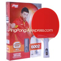 DHS 6 Star Table Tennis Racket (6002 6006) with Rubber (Hurricane 8 Tinarc) + Bag Set Orignal DHS 6-STAR Ping Pong Bat
