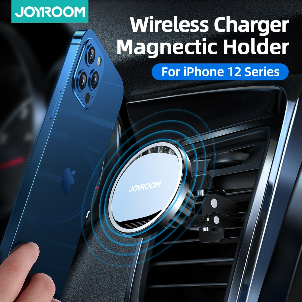 15W Qi Magnetic Wireless Car Charger Phone Holder for iPhone 12 Pro Max Wireless Charging Car Phone